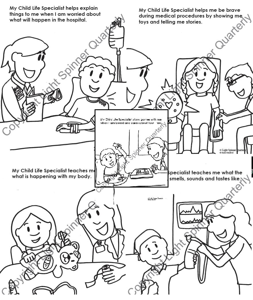 My Child Life Specialist Coloring Sheets